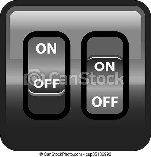 On Off Switch plastic - csp35136992