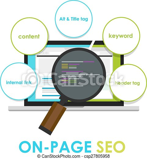 on page seo search engine optimization on-page - csp27805958