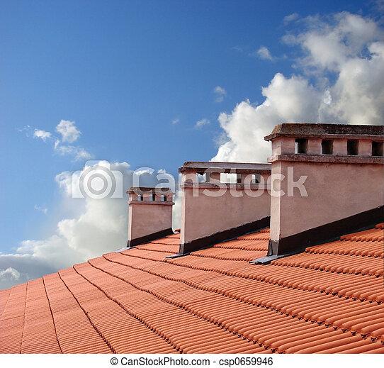On roof - csp0659946