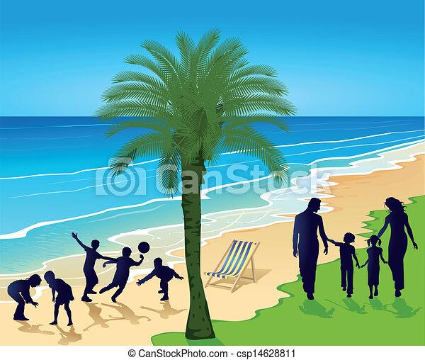 On the beach - csp14628811