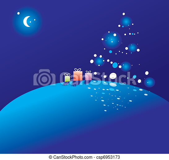 on the night of Christmas  - csp6953173