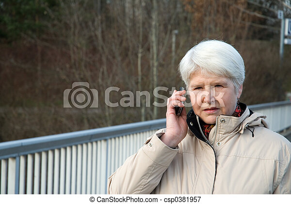on the phone - csp0381957