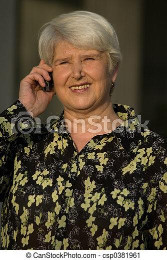on the phone - csp0381961