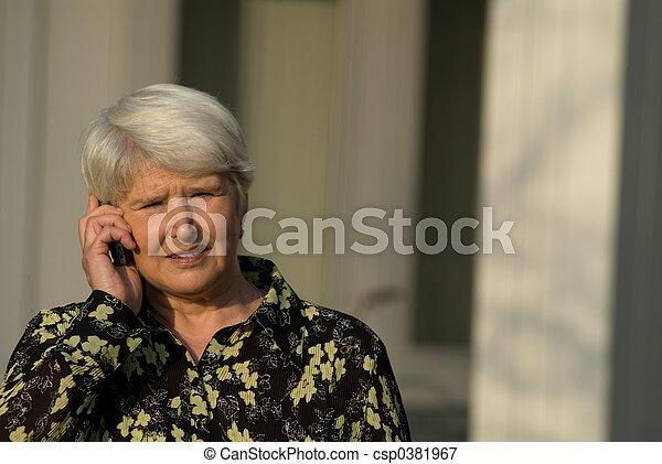 on the phone - csp0381967