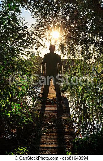 On the wooden bridge - csp81643394