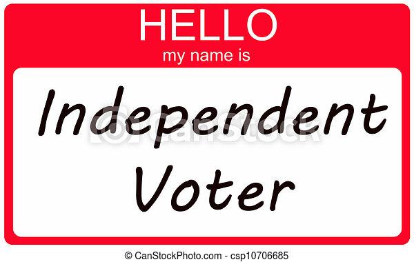 onafhankelijk, kiezer, hallo - csp10706685