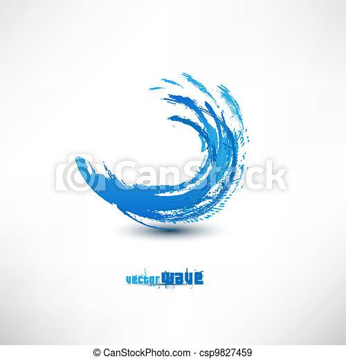 onda azul, sinal - csp9827459