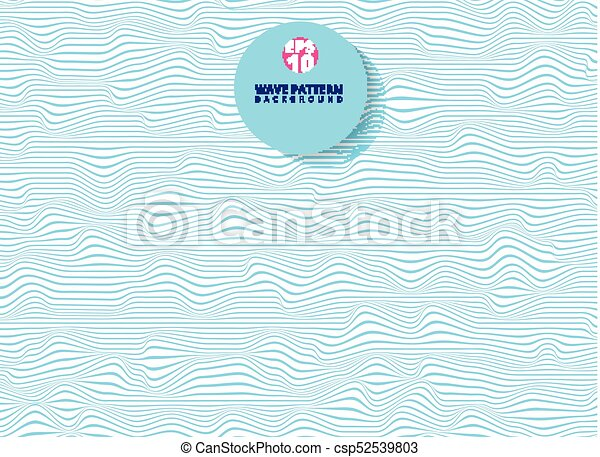 onda blu, astratto, linee, zebrato, modello, ondulato, superficie, ruvido - csp52539803