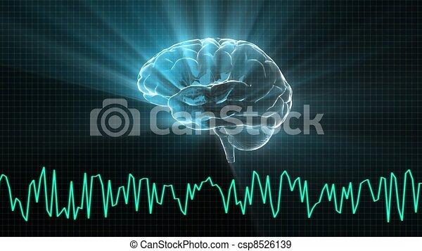 El cerebro de cristal y el gráfico de ondas - csp8526139