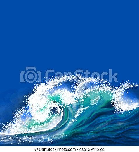 onda oceano - csp13941222