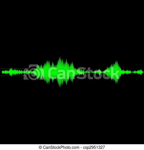 onda sonora, áudio, medida - csp2951327