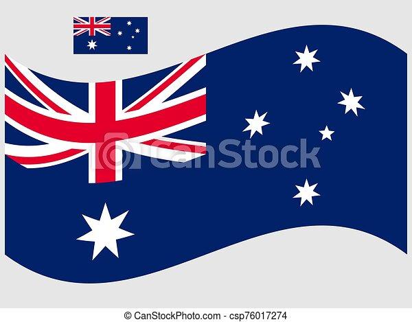 onda, vettore, illustrazione, bandiera, 10, eps, australia - csp76017274