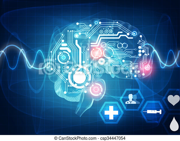 Ondas cerebrales - csp34447054