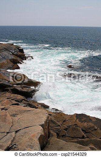 ondas, oceânicos, pedras - csp21544329