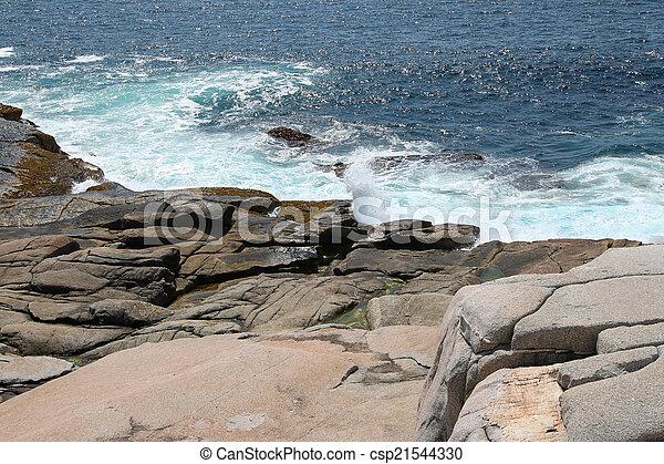 ondas, oceânicos, pedras - csp21544330
