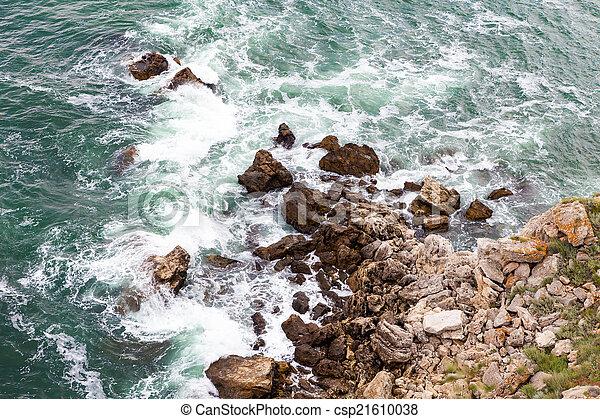 ondas, pedras - csp21610038
