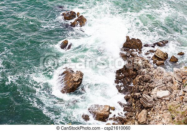 ondas, pedras - csp21610060