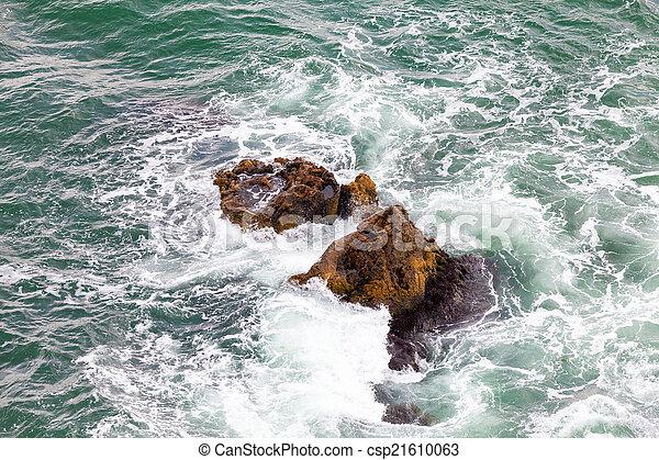 ondas, pedras - csp21610063