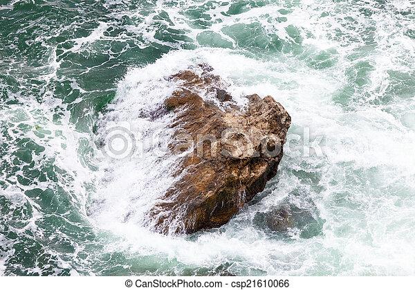 ondas, pedras - csp21610066