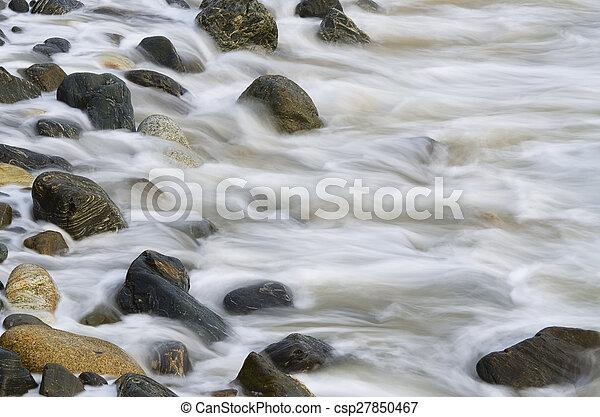 ondas, pedras - csp27850467