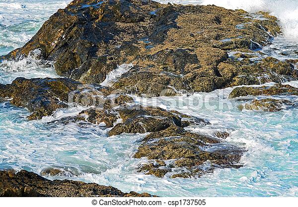 ondas, pedras - csp1737505