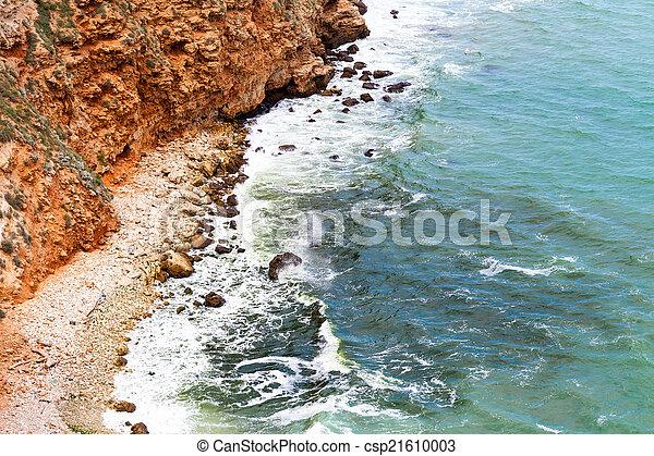 ondas, pedras - csp21610003