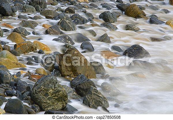 ondas, pedras - csp27850508