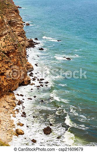 ondas, pedras - csp21609679