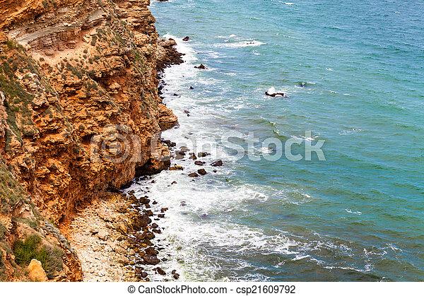 ondas, pedras - csp21609792