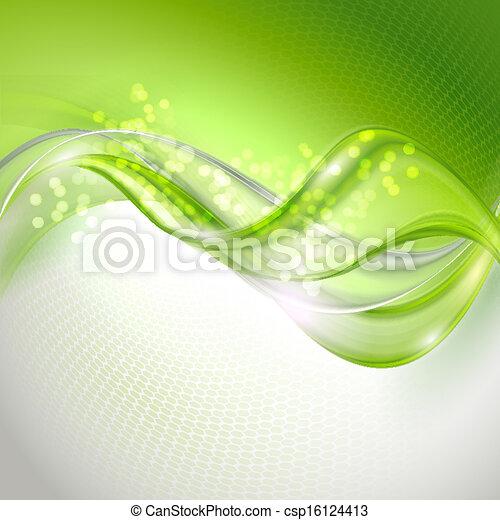 ondeggiare, astratto, sfondo verde - csp16124413