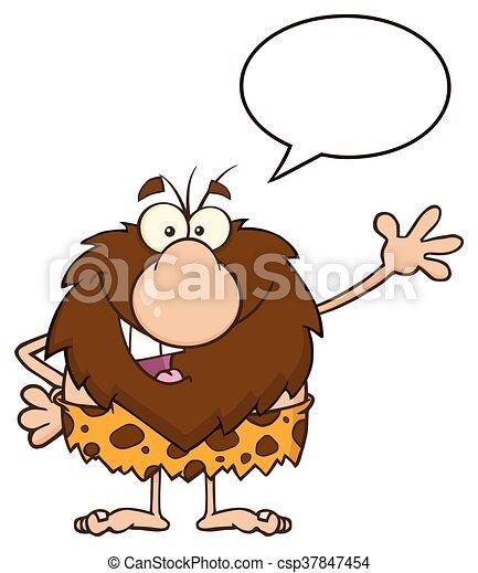 ondeggiare, parlare, caveman, maschio - csp37847454