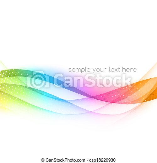 ondeggiato, astratto, vettore, colorito, fondo - csp18220930