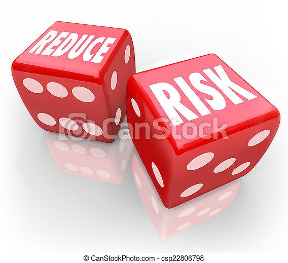 onderste, dobbelsteen, verlagen, verantwoordelijkheid, aansprakelijkheid, kans, gokken, woorden, weddenschap, rood - csp22806798