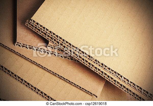 ondulé, carton, fond, détail, carton - csp12619018