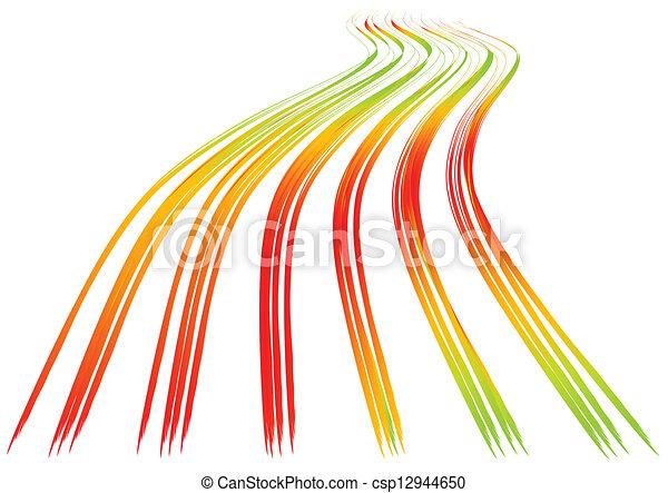 ondulé, lignes, fond - csp12944650