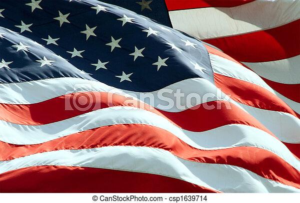 ondulación, bandera estadounidense - csp1639714