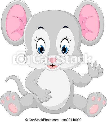 ondulación, lindo, ratón, caricatura - csp39440090