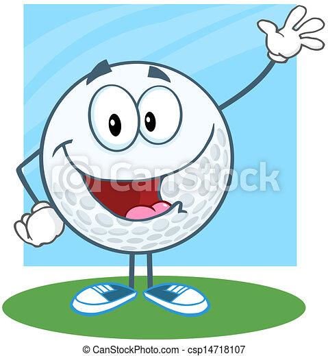 Bola de golf para saludar - csp14718107
