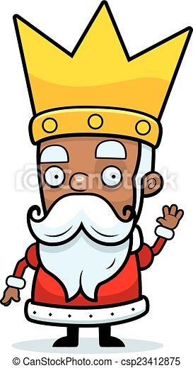 El rey de los dibujos saludando - csp23412875