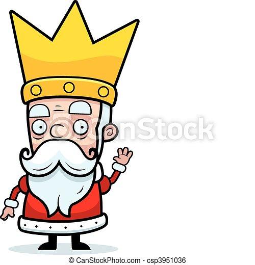 Rey saludando - csp3951036