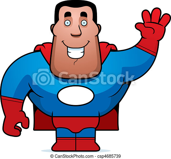 Un superhéroe saludando - csp4685739