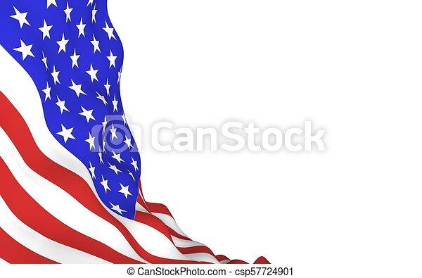La bandera de los Estados Unidos de América. Estrellas y rayas. El símbolo de EE.UU - csp57724901