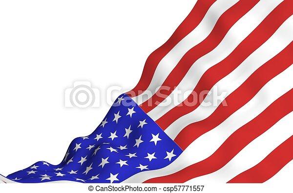 La bandera de los Estados Unidos de América. Estrellas y rayas. El símbolo de EE.UU - csp57771557