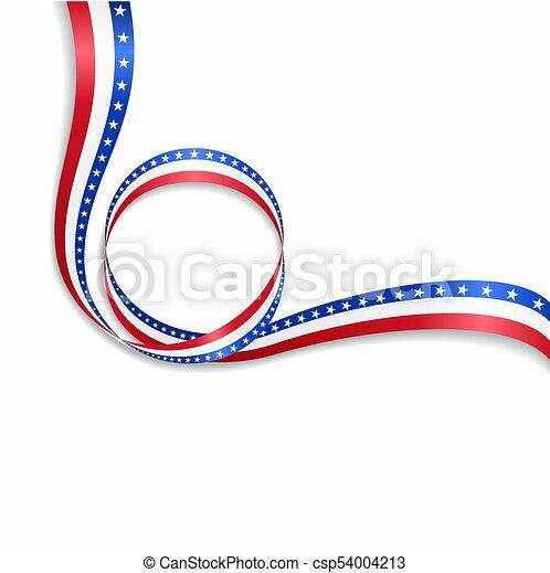 ondulado, illustration., americano, experiência., bandeira, vetorial - csp54004213