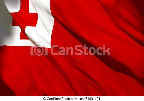 onduler, drapeau tonga - csp71831131