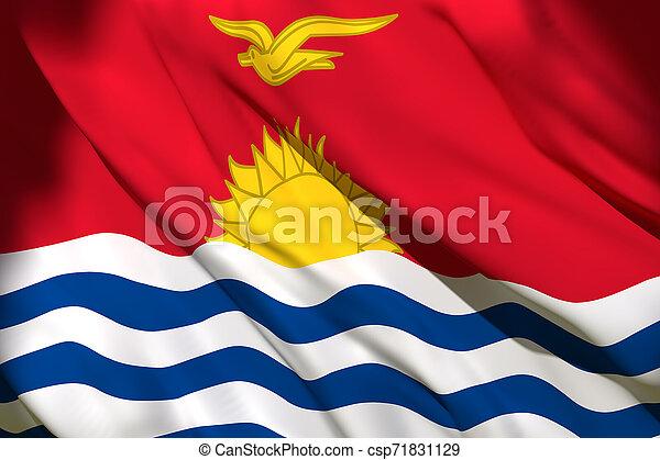 onduler, kiribati, drapeau - csp71831129