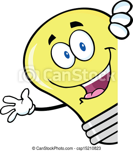 Ampoule Dessin onduler, lumière, derrière, ampoule, signe. lumière, caractère