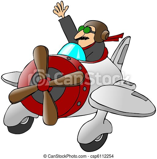 Onduler petit avion pilote onduler ceci illustration poste pilotage avion petit - Dessin avion stylise ...