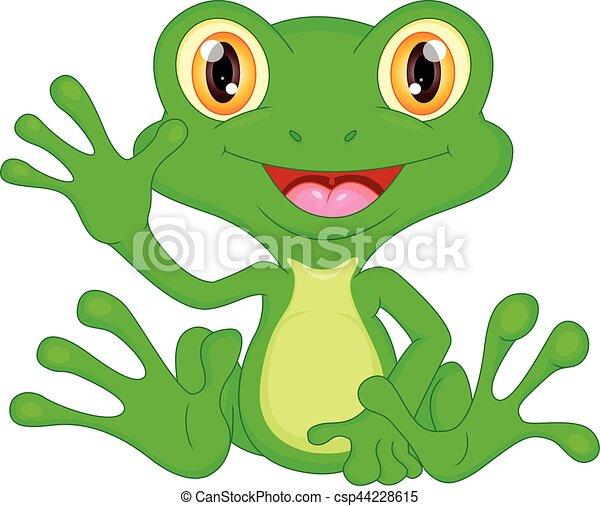 Onduler vert dessin anim grenouille illustration onduler vecteur grenouille verte - Dessin de grenouille verte ...