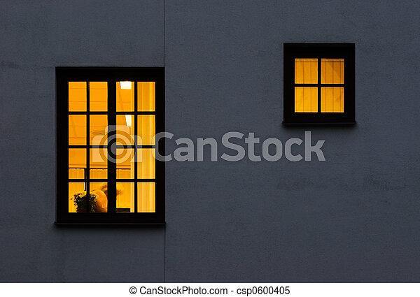 One and half yellow windows - csp0600405